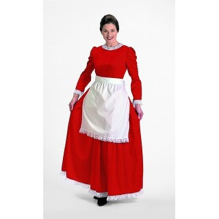 2 Piece Soft Red and White Mrs. Clause Christmas Charmer  Size Medium