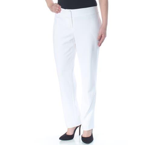 KASPER Womens White Straight leg Wear to Work Pants Size 6