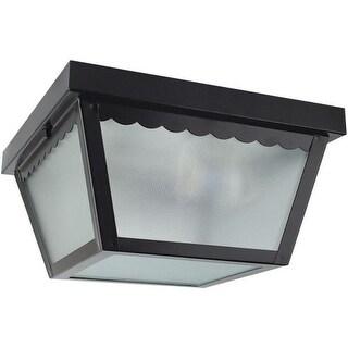 """Sunset Lighting F2402 2 Light Outdoor 10"""" Wide Flush Mount Ceiling Fixture"""