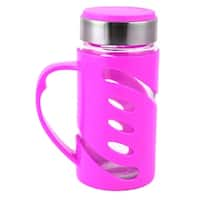 Outdoor Travel Portable Drinking Mug Water Cup Bottle Container Fuchsia 350ml