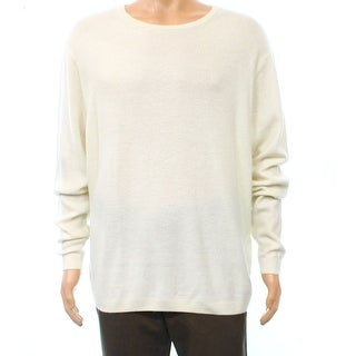 Polo Ralph Lauren NEW White Ivory Mens Large L Knit Crewneck Sweater