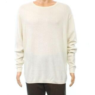 Polo Ralph Lauren NEW White Ivory Mens Size Medium M Crewneck Sweater