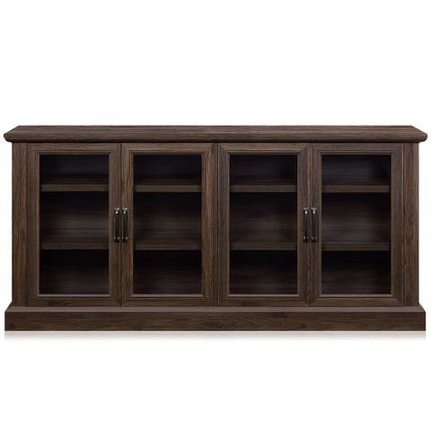 """BELLEZE Liam 70"""" Rustic Farmhouse Wood Sideboard Universal Stand - standard"""