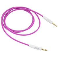 Foam Auxiliary Cable, 3 ft., 3.5 mm. to 3.5 mm. - Purple