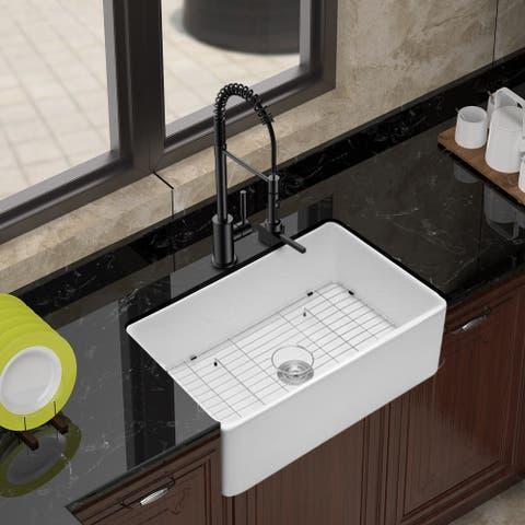Clihome 33 Inch Ceramic Kitchen Single Bowl Sink