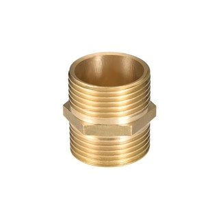 "Brass Pipe Fitting, Hex Nipple, 1"" x 1"" G Male Thread Pipe Brass Fitting - 1"" G Male"