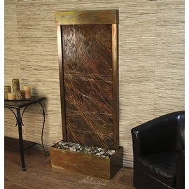 Adagio H7F2005 Harmony River - Green Rainforest Marble Floor Fountain