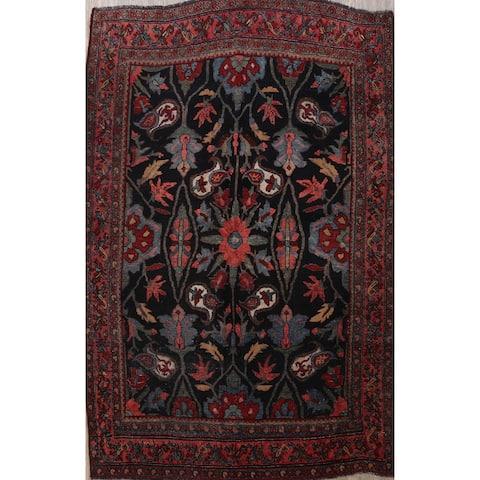 "Pre-1900 Antique Bidjar Vegetable Dye Persian Area Rug Hand-Knotted - 4'7"" x 6'7"""