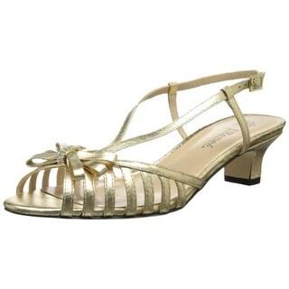 J. Renee Womens Tattle Dress Sandals Leather Heels