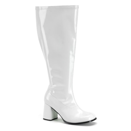 Womens White Wide Calf Halloween Gogo Boots. Opens flyout.