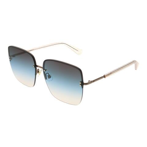 Kate Spade KS Janay SQG 98 Womens Beige Glitter Frame Blue Gradient Lens Sunglasses