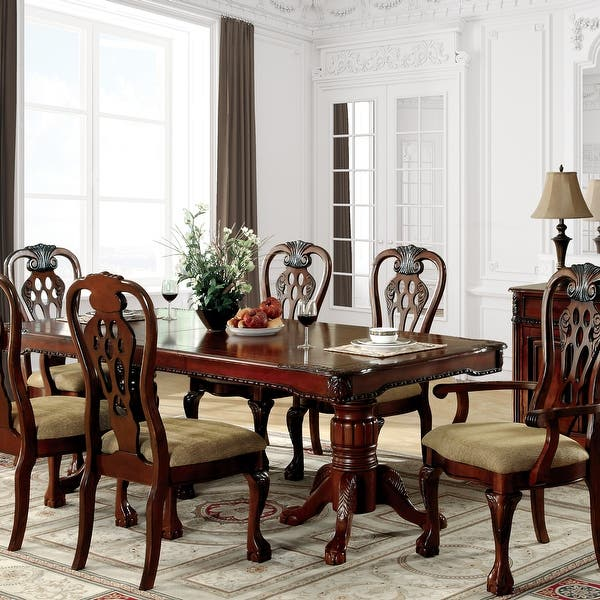 Furniture Of America Harper 7 Piece Formal Cherry Dining Set On Sale Overstock 20831060