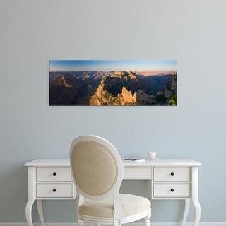 Easy Art Prints Panoramic Image 'Rock formations at canyon, North Rim, Grand Canyon National Park, Arizona' Canvas Art