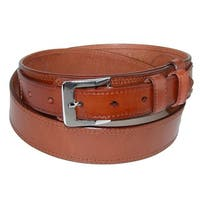 CTM® Men's Leather Removable Buckle Ranger Belt