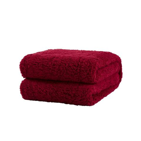 Richie House Soft, Comfortable, Light Weight Sherpa Throw Blanket
