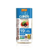Suzie's Whole Grain Thin Cakes - Brown Rice - Case of 12 - 4.9 oz.