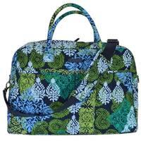 Vera Bradley CARIBBEAN SEA Print Cotton Weekender Duffle Travel Bag Purse