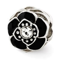 Sterling Silver Reflections Flower w/Swarovski Elements Bead (4mm Diameter Hole)