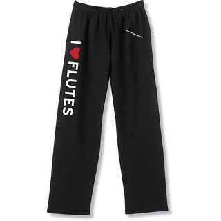 Unisex Adult I Heart Instruments Unisex Sweatpants - I Love Flutes