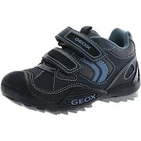 Geox Boys' Savage K Sneaker - Navy/Grey - 39 m eu / 6 m us big kid