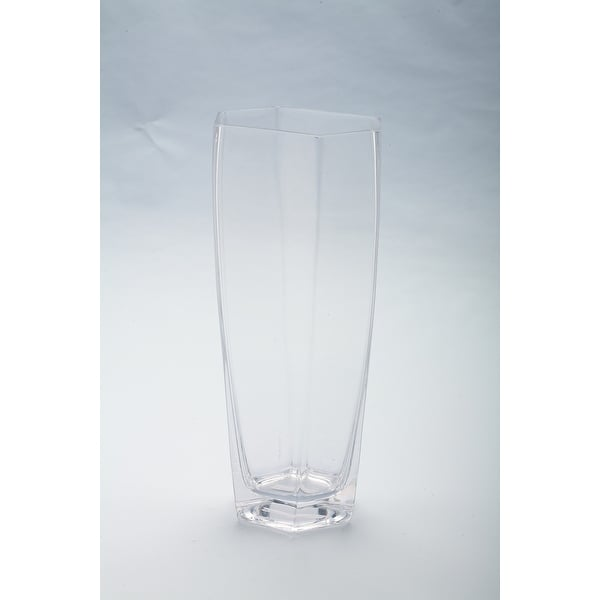"12"" Clear Hand-blown Glass Tabletop Vase - N/A"