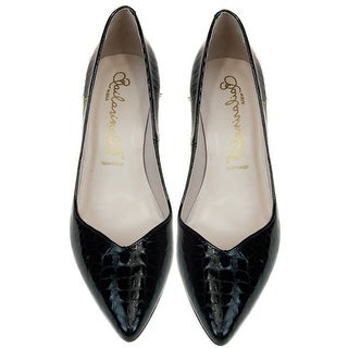 Bailarinas SCILLA CO NER Black Croc Embossed Classic Pump