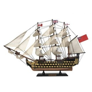 Handcrafted Model Ships V-24 24 in. Wooden HMS Victory Tall Model Ship