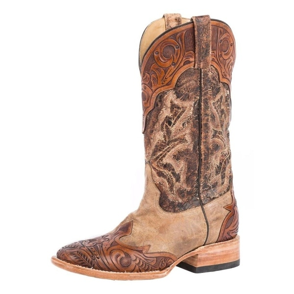 Stetson Western Boots Mens Leather Kedge Tan
