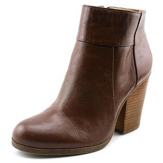 Kenneth Cole Reaction Might Be Women Round Toe Leather Brown Ankle Boot