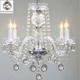 Swarovski Crystal Trimmed Chandelier Lighting With Faceted 40 mm Crystal Balls