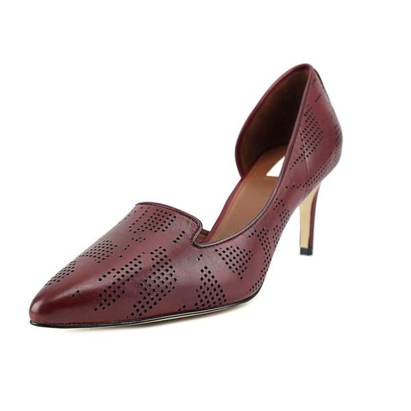 Cole Haan Neara Pump Women Pointed Toe Leather Burgundy Heels