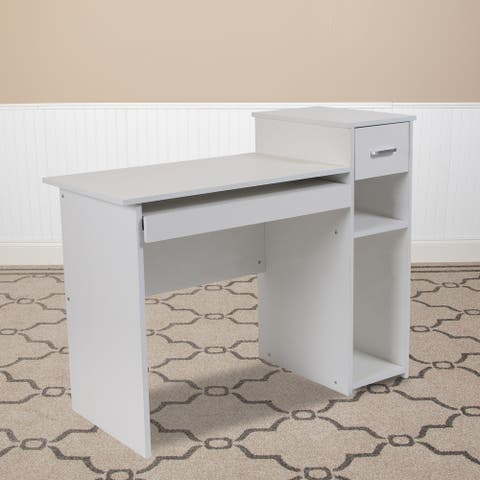 Computer Desk with Shelves and Drawer