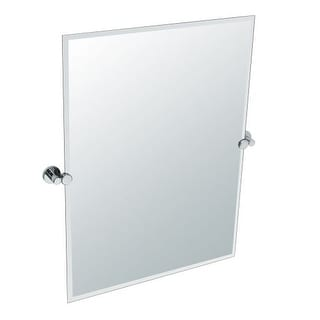 Gatco 4689S Channel Rectangular Beveled Tilting Wall Mirror