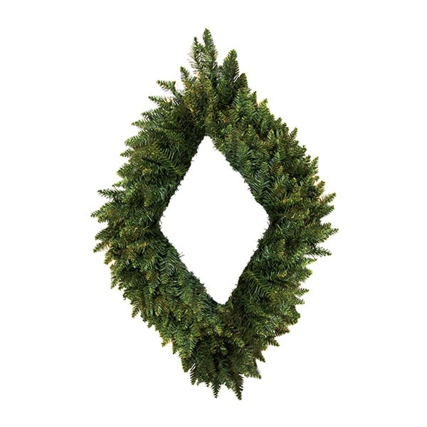 "42"" Camdon Fir Diamond Shaped Artificial Christmas Wreath - Unlit"