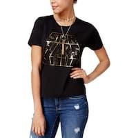 Star Wars Womens Juniors T-Shirt Metallic Short Sleeves