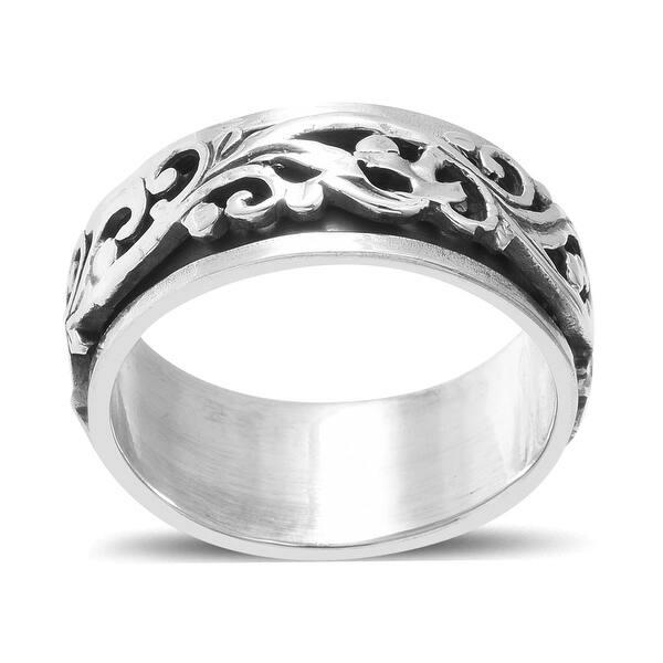 925 Sterling Silver Ring - Silver Spinner Ring Meditation Ring SPINNER RING