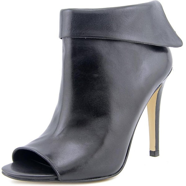 Ivanka Trump Derri Peep-Toe Leather Ankle Boot