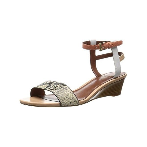 Cole Haan Womens Ayana Wedge Sandals Strappy Snake Pritn