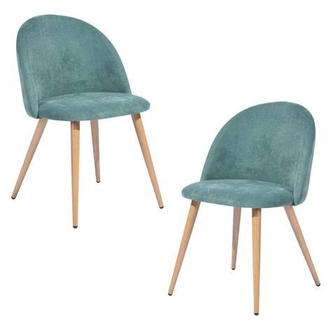 Carson Carrington Mid-Century Modern Velvet Dining Chair Set of 2