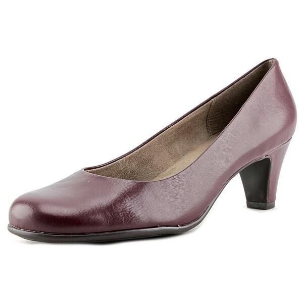 Aerosoles Nice Play Women Round Toe Leather Burgundy Heels