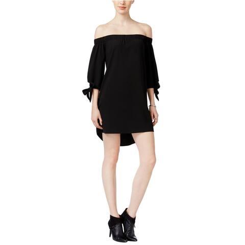 Bar Iii Womens Off The Shoulder Shift Dress