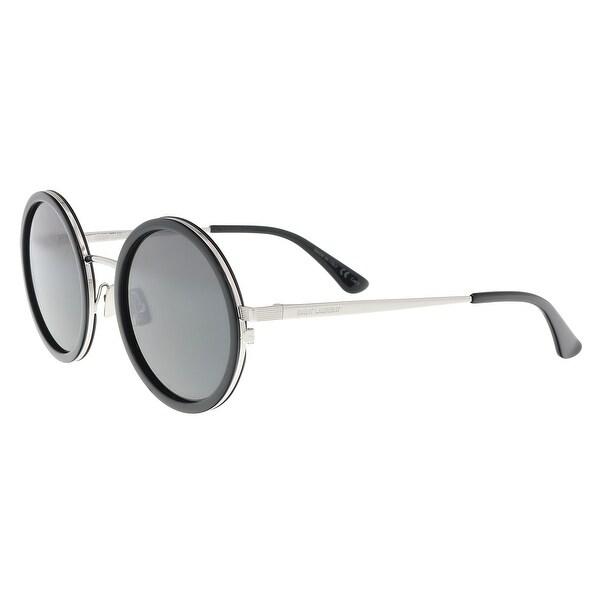 b3f36ad4cde Saint Laurent SL 136 COMBI-001 Clear Green Round Sunglasses - 52-22-