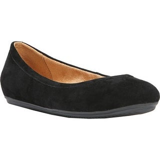 Naturalizer Women's Brittany Ballet Flat Black Suede