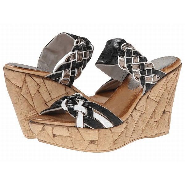 Azura NEW Black Shoes Size 8 Platforms & Wedges Leather Heels