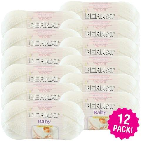 Bernat Baby Yarn - 12/Pk-Baby White