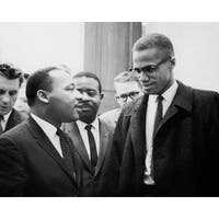 ''Martin Luther King Jr. & Malcolm X, Washington DC, March 26, 1964'' by McMahan Photo Archive African American Art Print