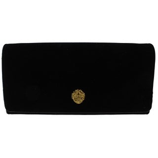 Nine West Womens Clutch Handbag Velvet Accordion - Small