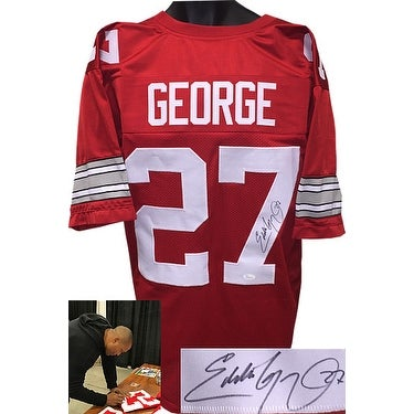8f1ebe667e8 Shop Eddie George signed Red Custom Stitched College Football Jersey 27 XL  JSA Hologram - Free Shipping Today - Overstock - 20686896