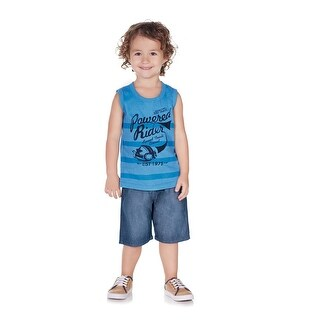Pulla Bulla Toddler Boy Sleeveless Shirt Striped Tank Top (3 options available)