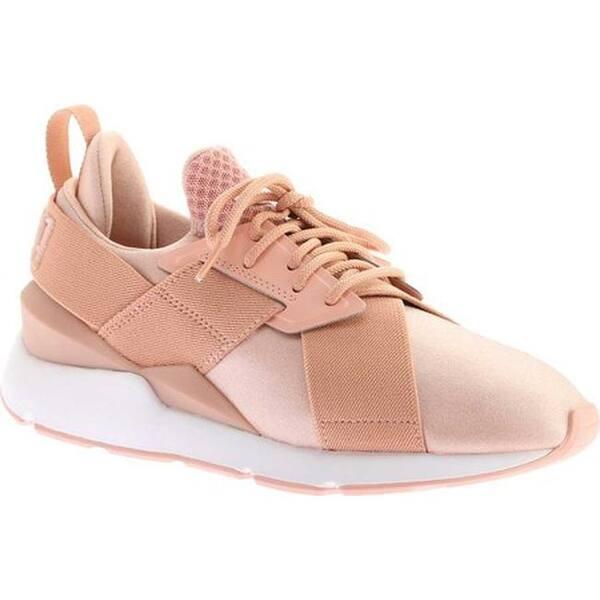 ef79e1d338ec24 PUMA Women s Muse Satin En Pointe Sneaker Peach Beige PUMA White ...